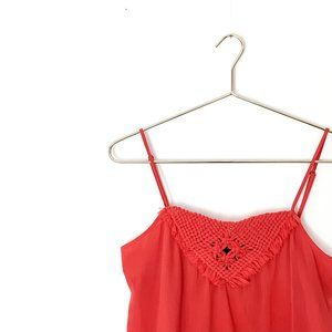 BANANA REPUBLIC red woven embellished camisole